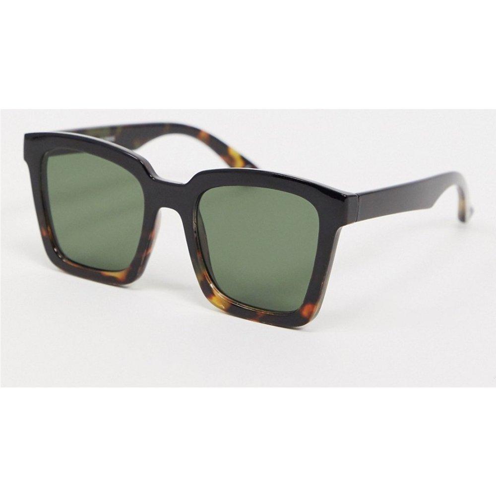 Grosses lunettes de soleil carrées avec motif écaille délavé - brillant - ASOS DESIGN - Modalova