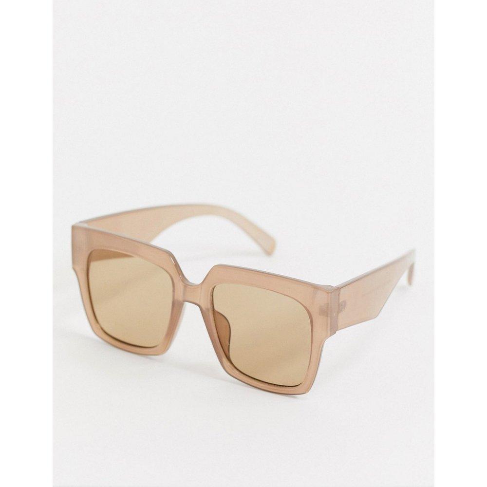 Grosses lunettes de soleil oversize carrées style années 70 - lacté - ASOS DESIGN - Modalova