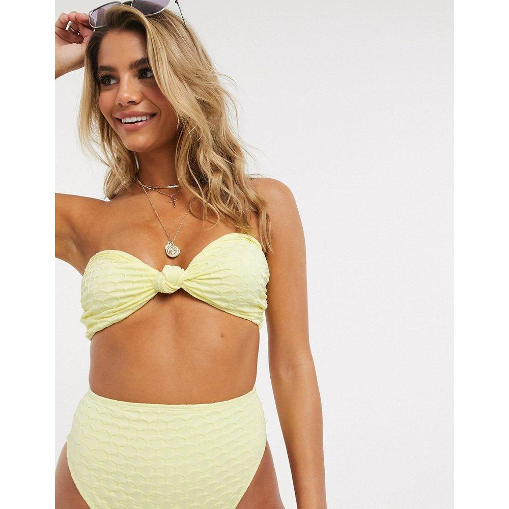 Haut de bikini texturé épais à nœud - pastel - ASOS DESIGN - Modalova