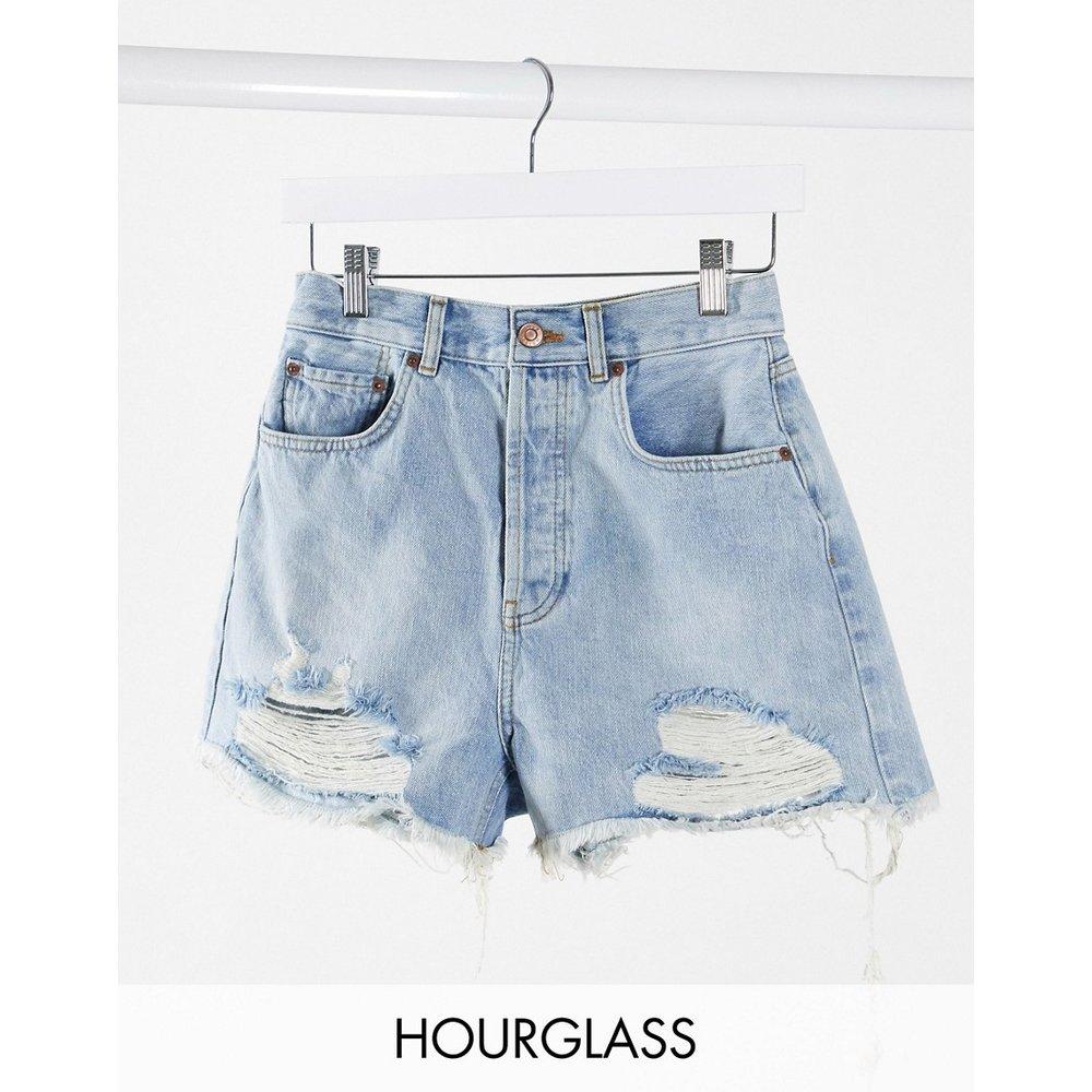 Hourglass - Short en jean décontracté taille mi-haute avec déchirures - ASOS DESIGN - Modalova