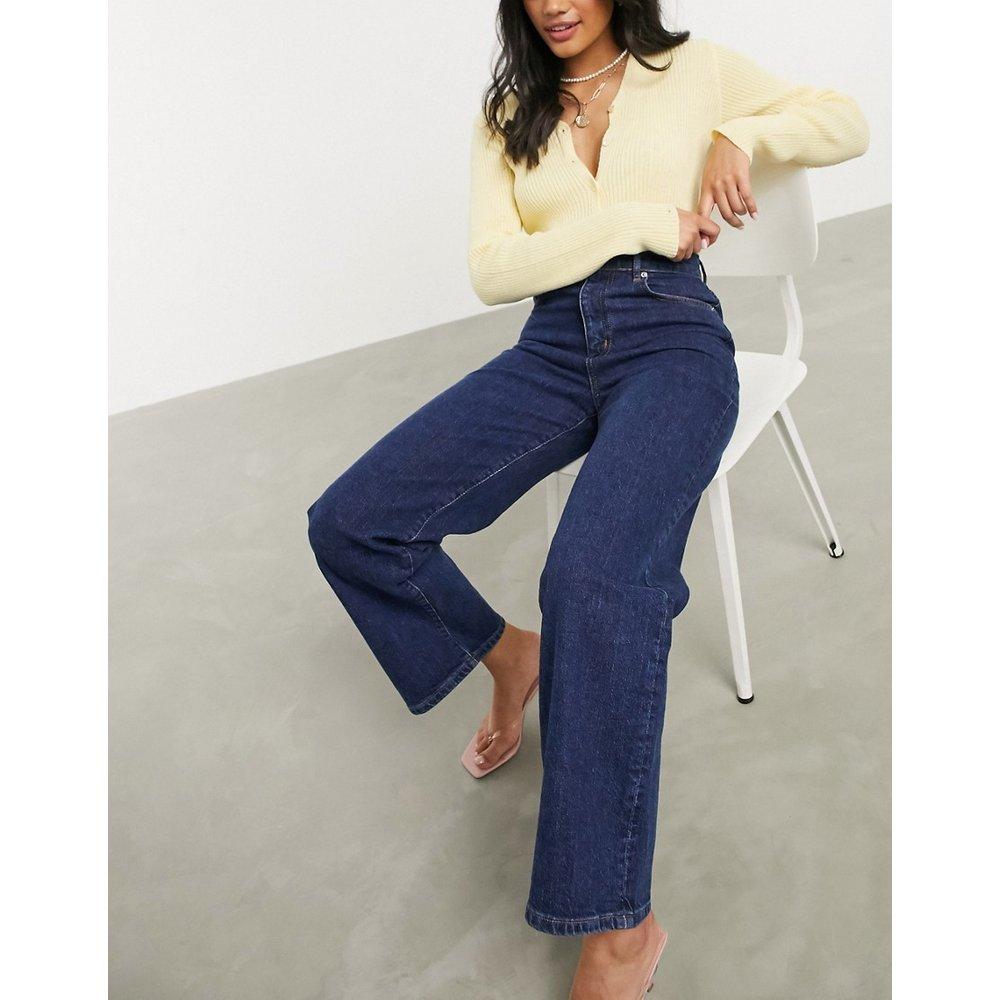 Jean large taille haute en tissu stretch confortable - Indigo vintage - ASOS DESIGN - Modalova