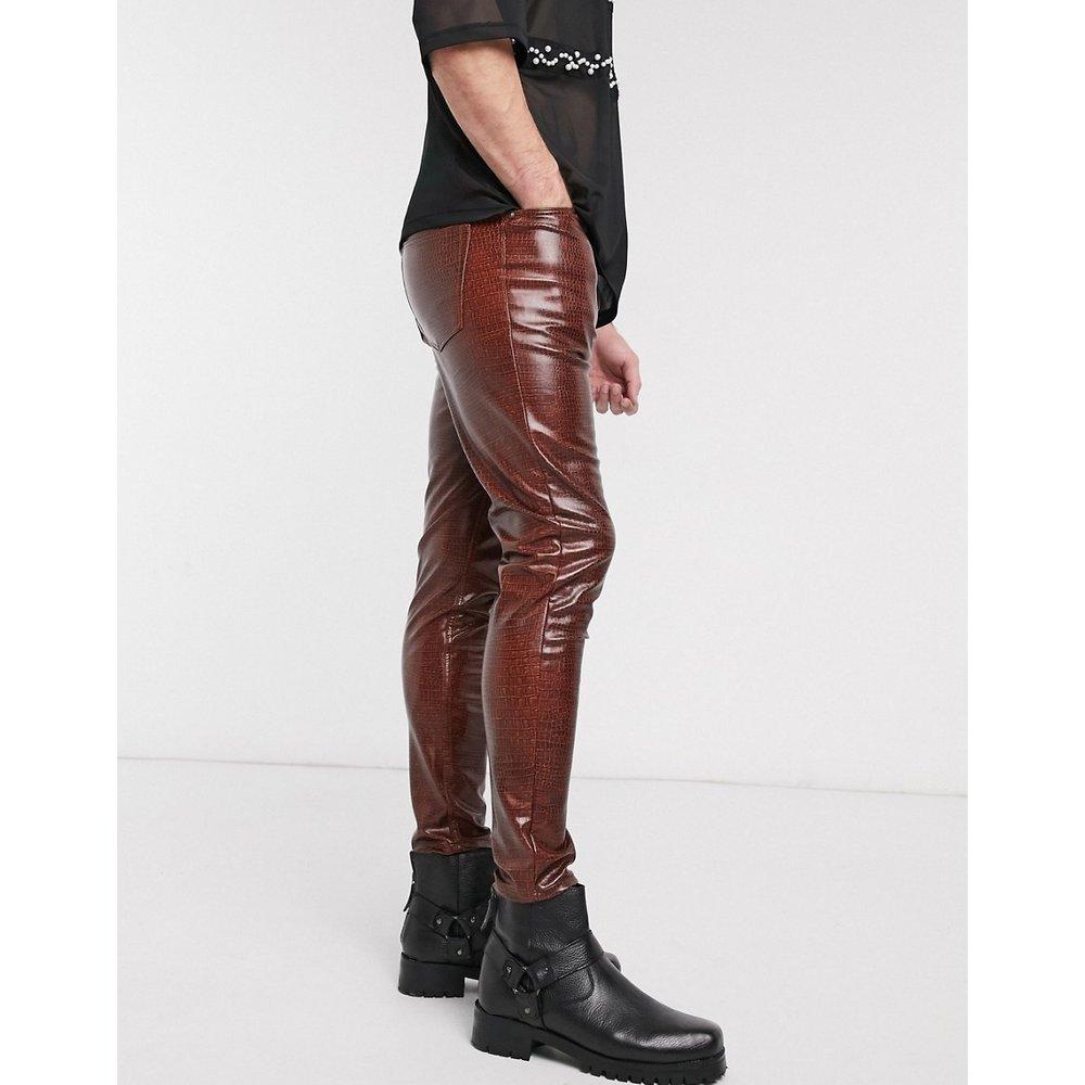 Jean skinny taille haute en vinyle - crocodile - ASOS DESIGN - Modalova