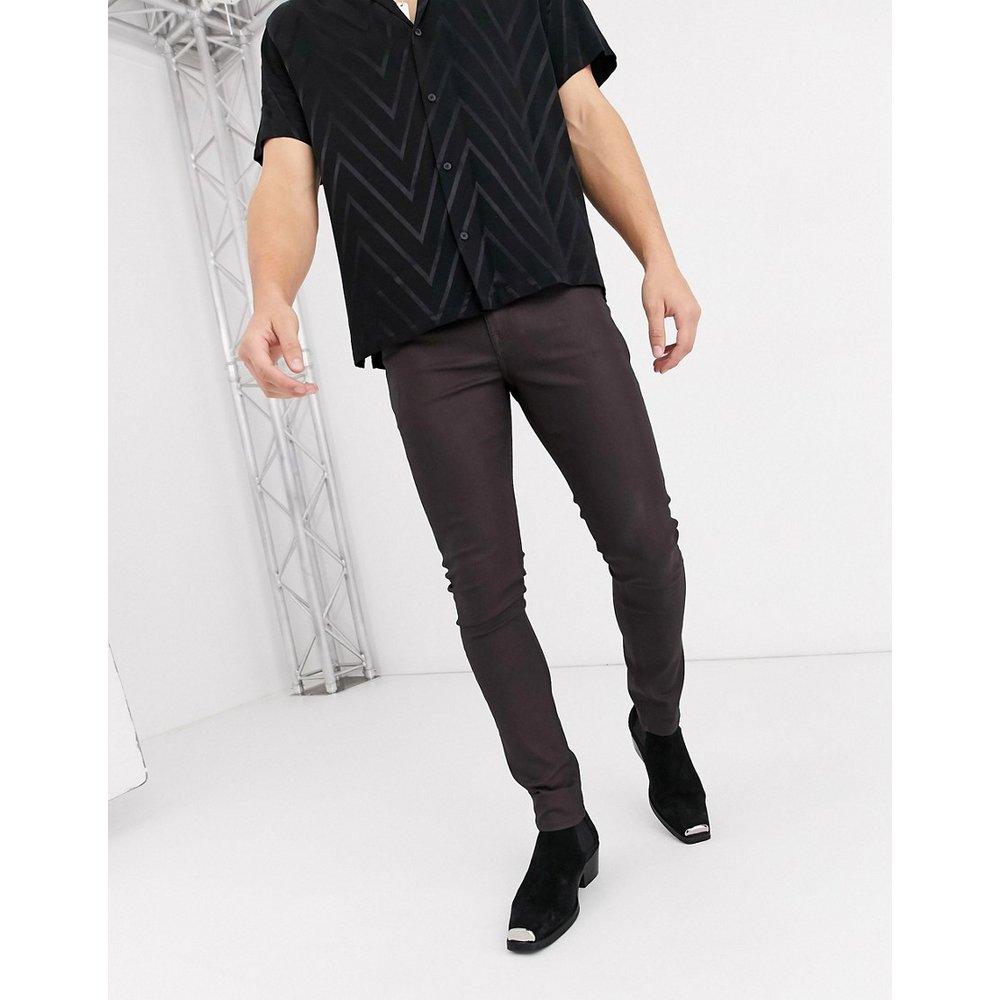 Jean super skinny en similicuir enduit - ASOS DESIGN - Modalova