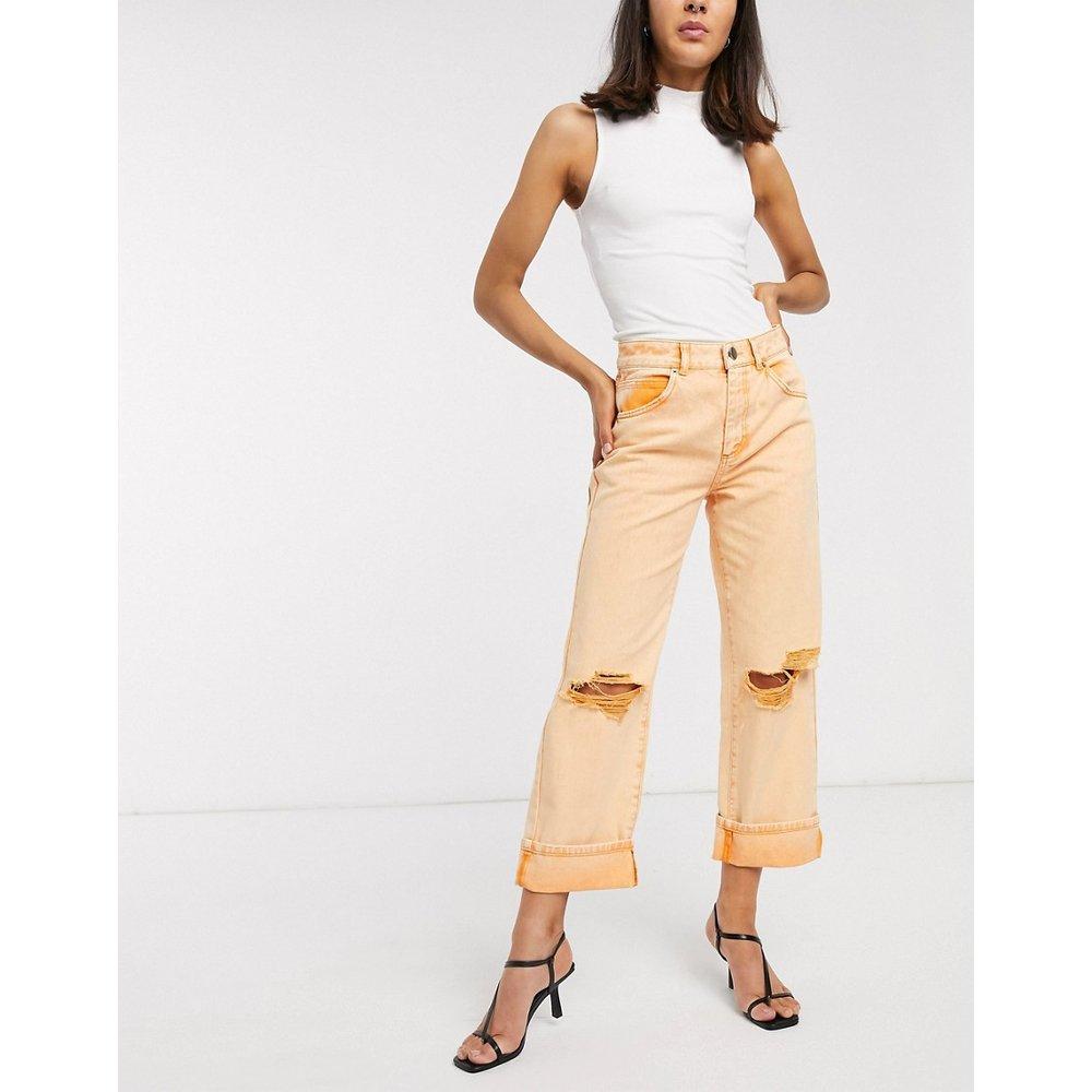 Jean taille basse style charpentier ultra déchiré - Orange - ASOS DESIGN - Modalova