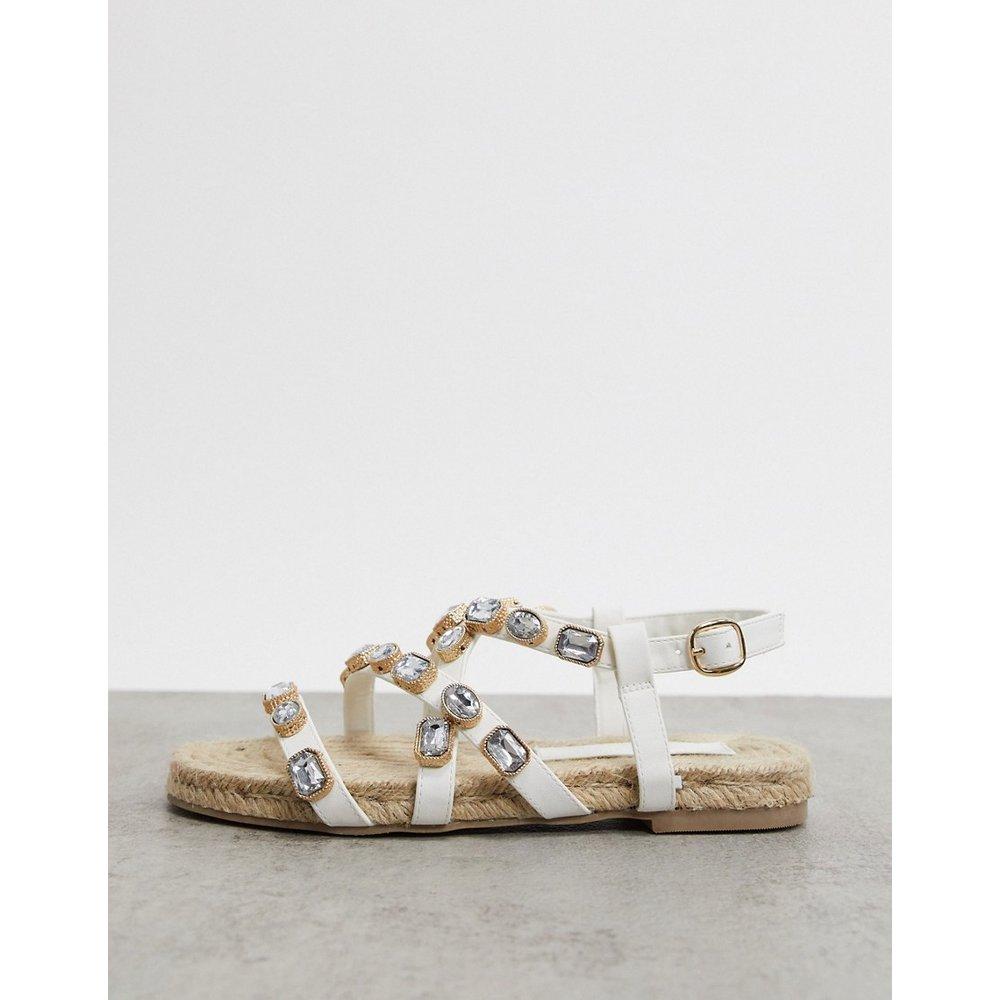 Jemima - Sandales plates style espadrilles avec ornements - ASOS DESIGN - Modalova