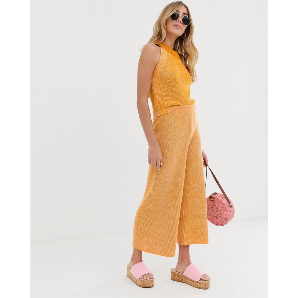 Jupe-culotte d'ensemble en maille torsadée - ASOS DESIGN - Modalova