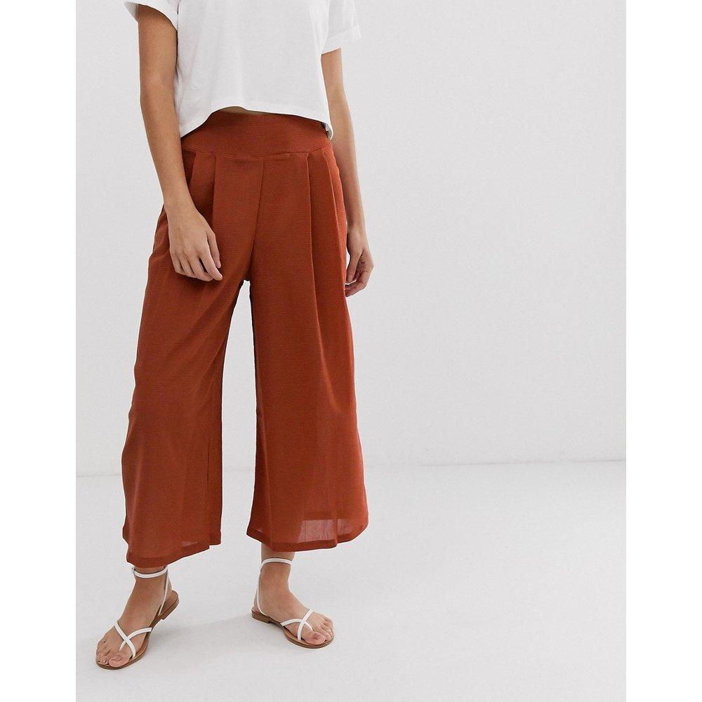 Jupe-culotte texturée à boutons - ASOS DESIGN - Modalova