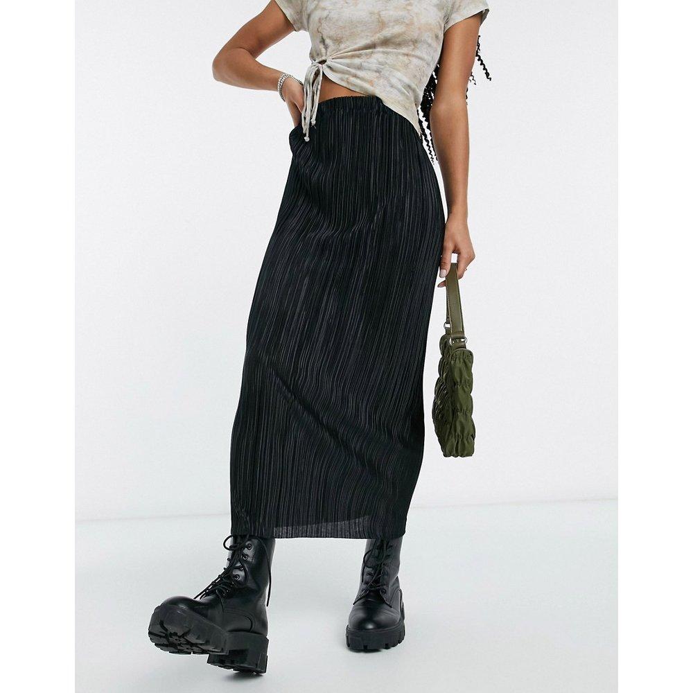 Jupe droite mi-longue plissée - ASOS DESIGN - Modalova