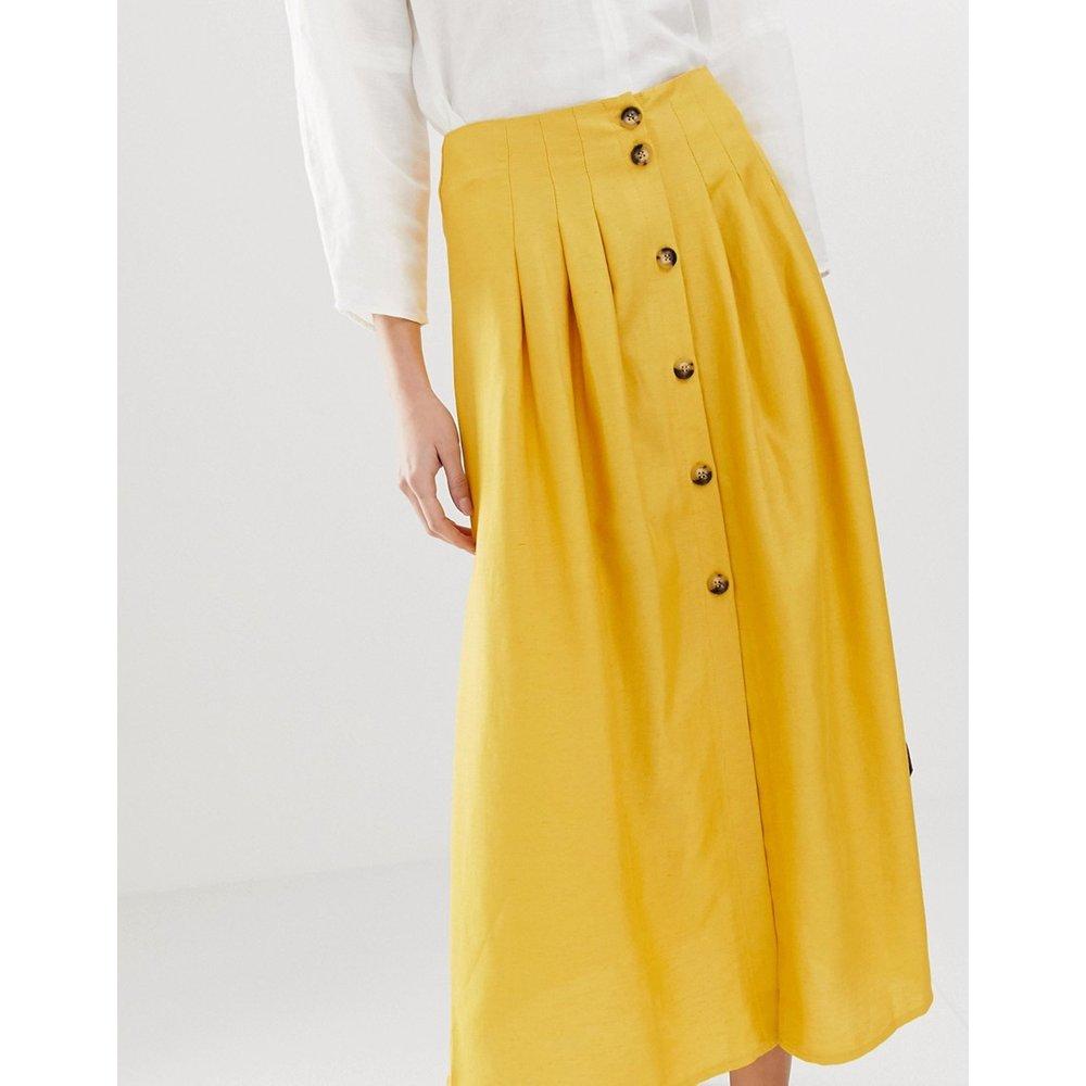 Jupe mi-longue taille haute avec coutures - ASOS DESIGN - Modalova