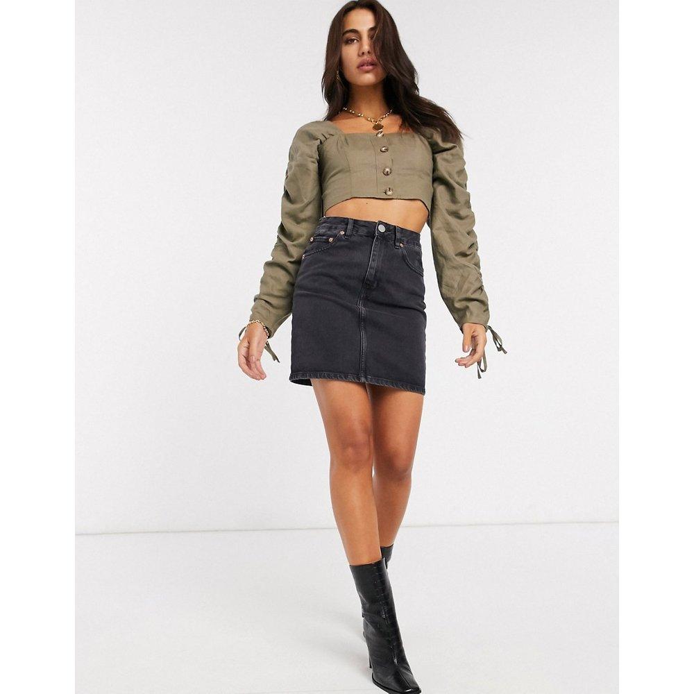 Jupe originale taille haute en jean - délavé - ASOS DESIGN - Modalova