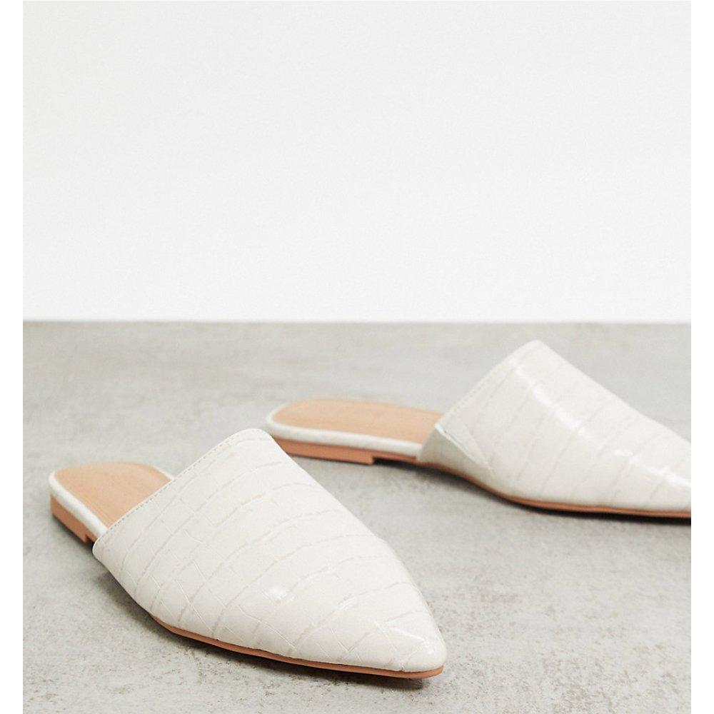 Lava - Mules plates pointure large à bout pointu - Croco - ASOS DESIGN - Modalova