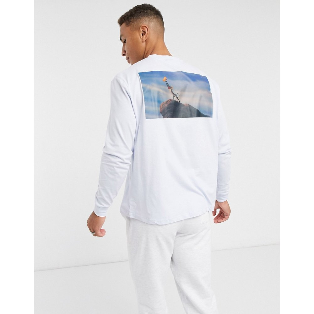 Lion King - T-shirt décontracté avec imprimé au dos - clair - ASOS DESIGN - Modalova