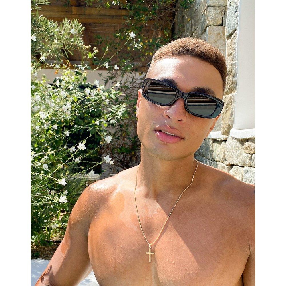 Lunettes de soleil rectangulaires mi-épaisses avec verres - ASOS DESIGN - Modalova