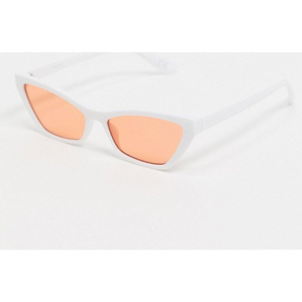Lunettes de soleil yeux de chat à verres orange - ASOS DESIGN - Modalova