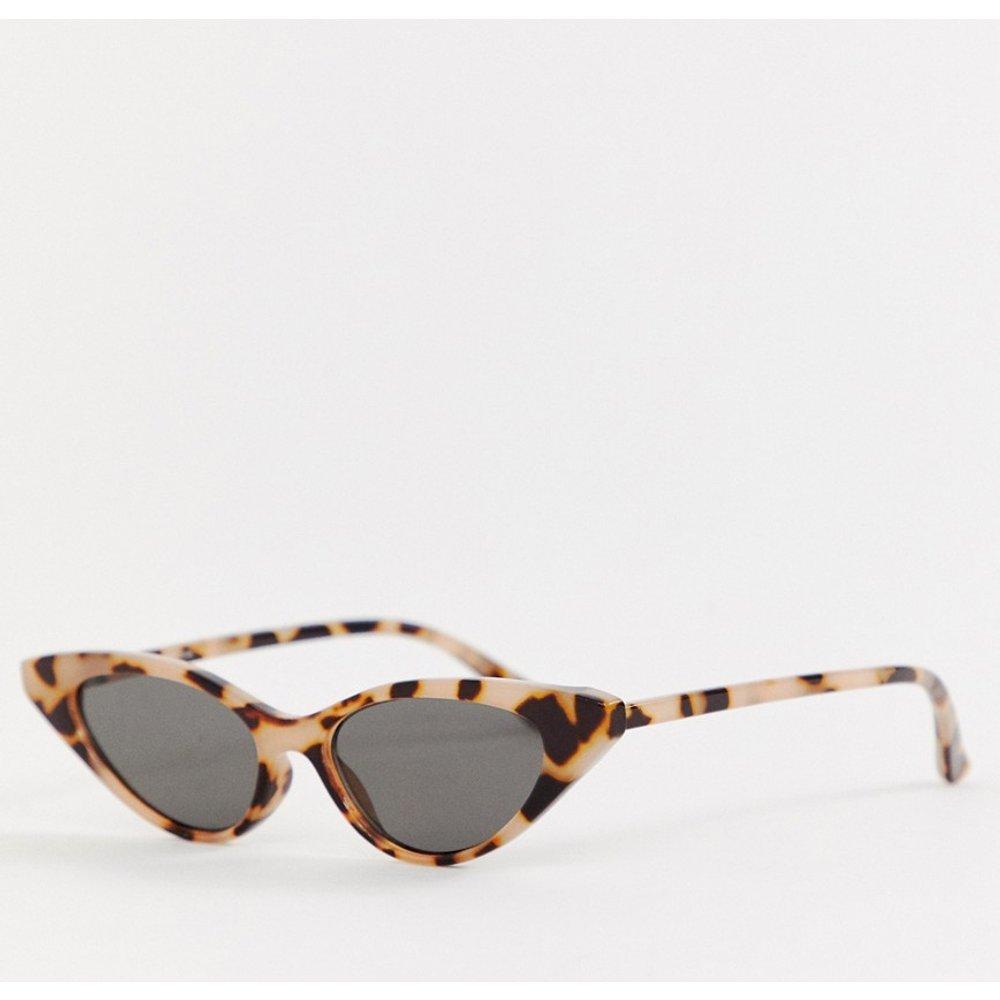 Lunettes de soleil yeux de chat - Écaille de tortue laiteuse - ASOS DESIGN - Modalova