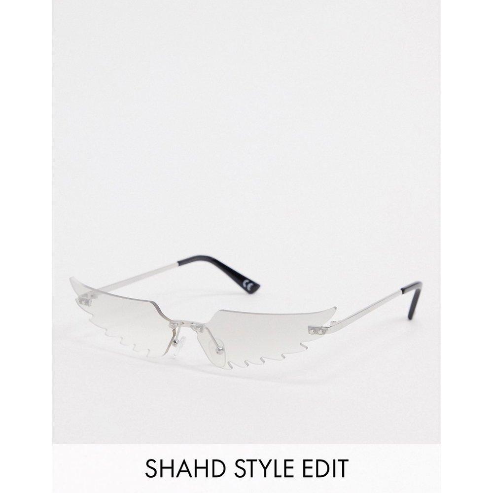 Lunettes mode à ailes d'ange avec verres flashy - ASOS DESIGN - Modalova