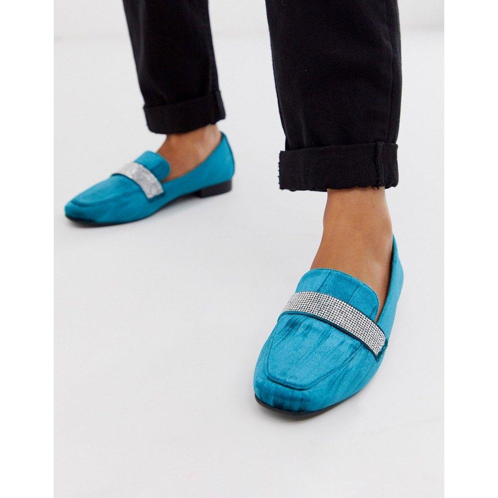 Manage - Chaussures plates style mocassins avec ornements - sarcelle - ASOS DESIGN - Modalova