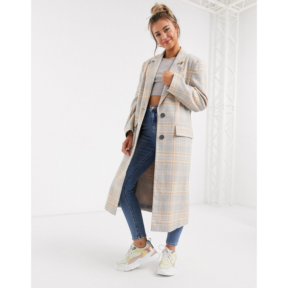 Manteau long oversize à carreaux - ASOS DESIGN - Modalova