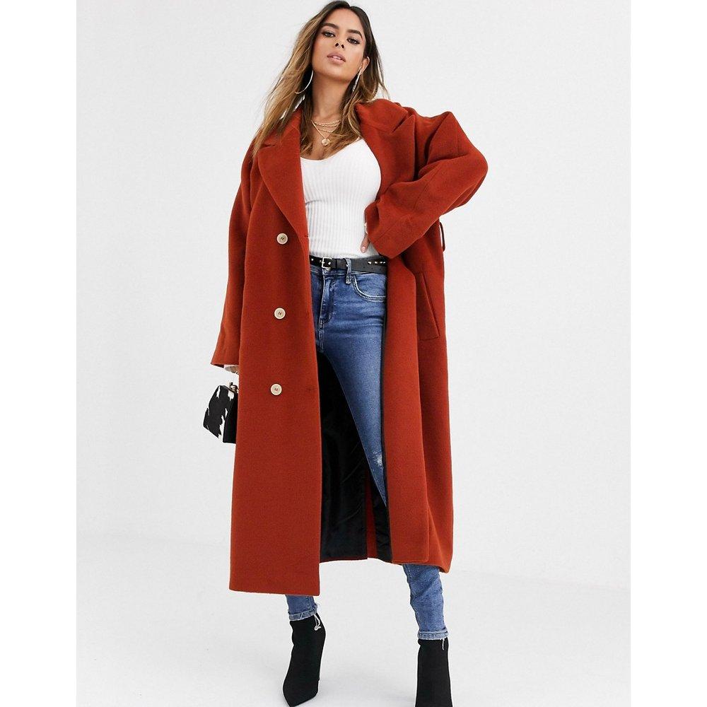 Manteau long oversize à ceinture - Rouille - ASOS DESIGN - Modalova