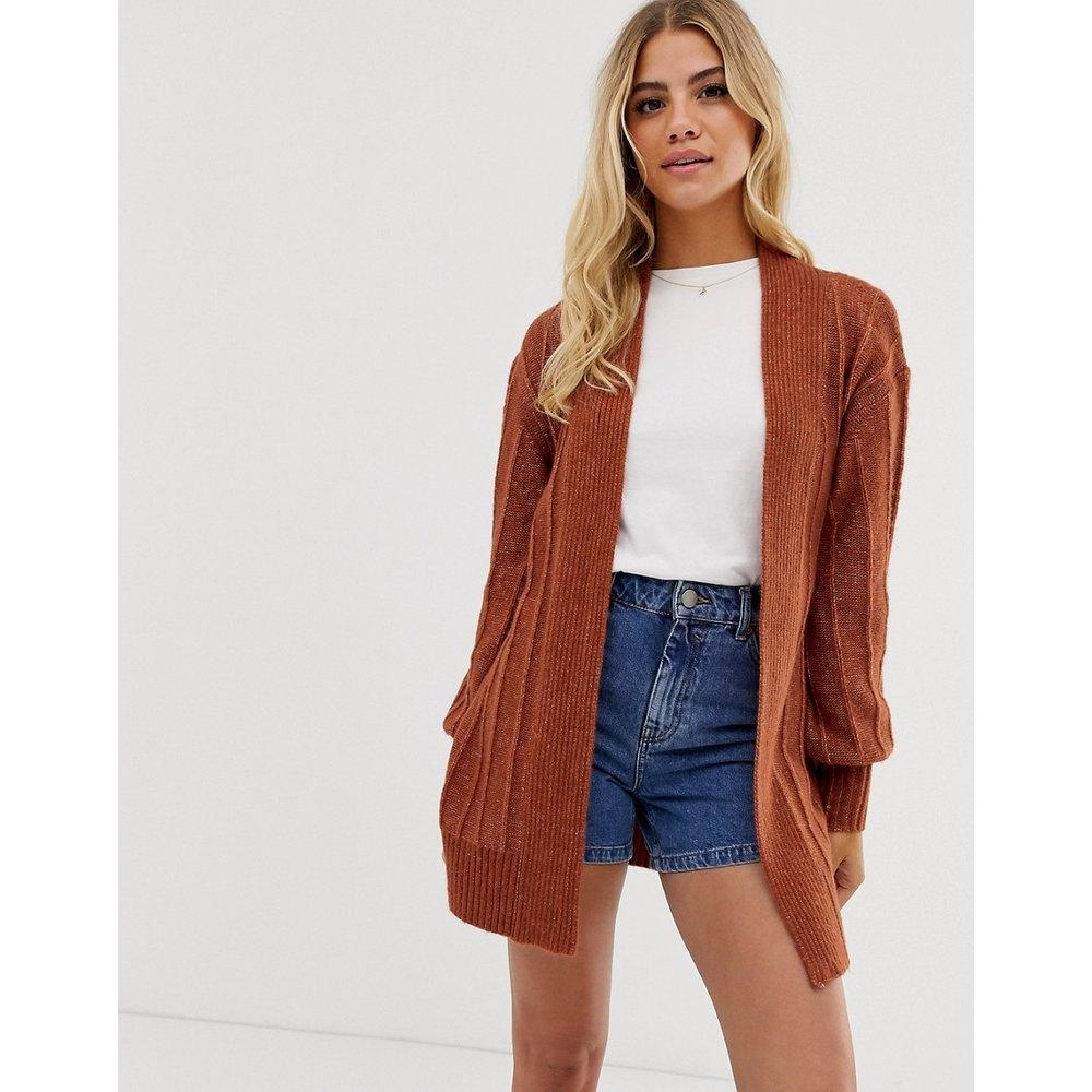 Manteau style cardigan en maille duveteuse - ASOS DESIGN - Modalova