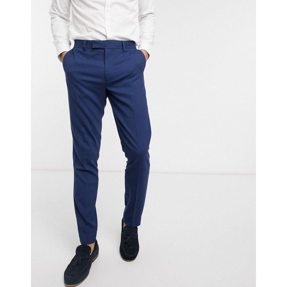 Mariage - Pantalon de costume slim - Indigo vintage - ASOS DESIGN - Modalova