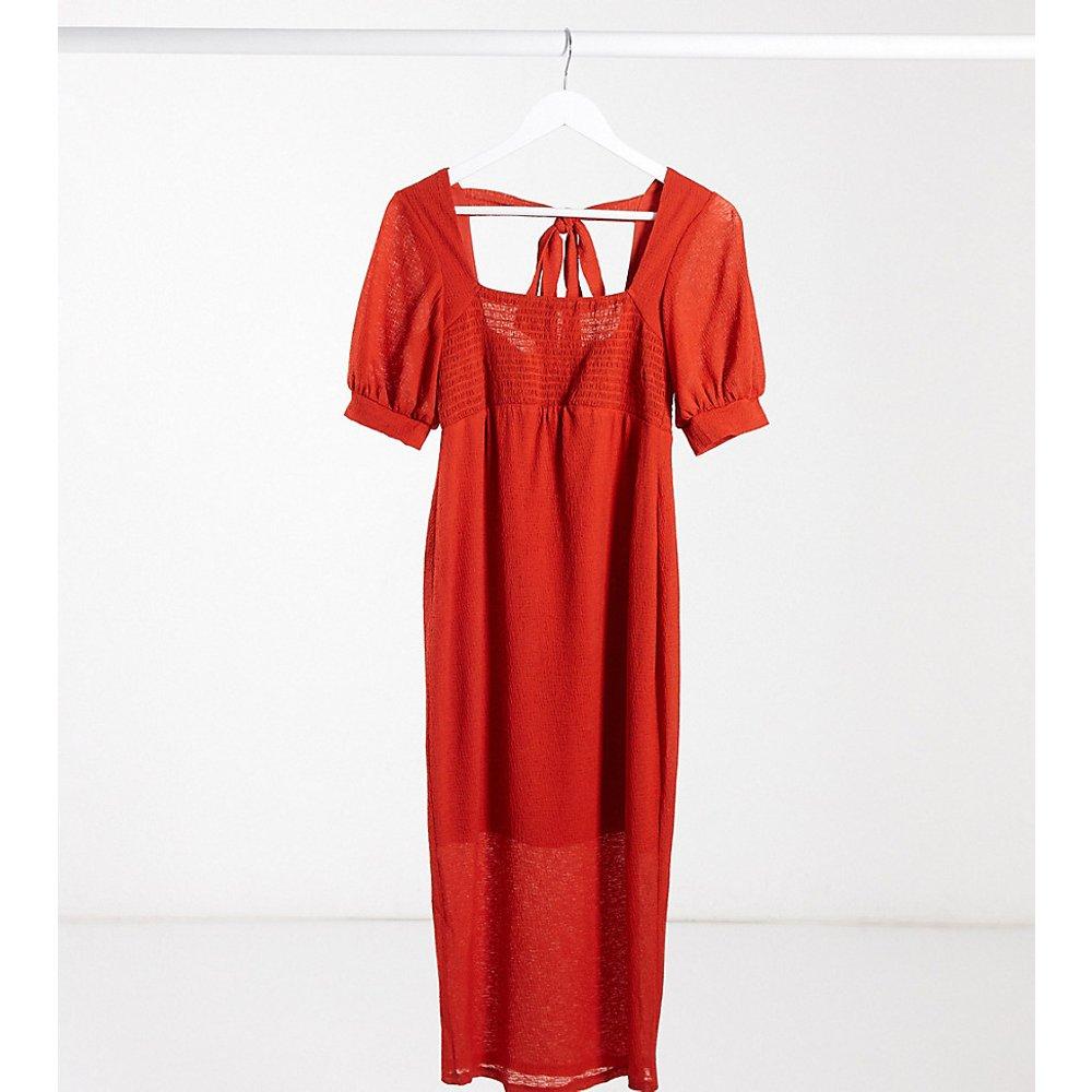 ASOS DESIGN Maternity - Exclusivité - Robe mi-longue avec buste transparent - Rouille - ASOS Maternity - Modalova