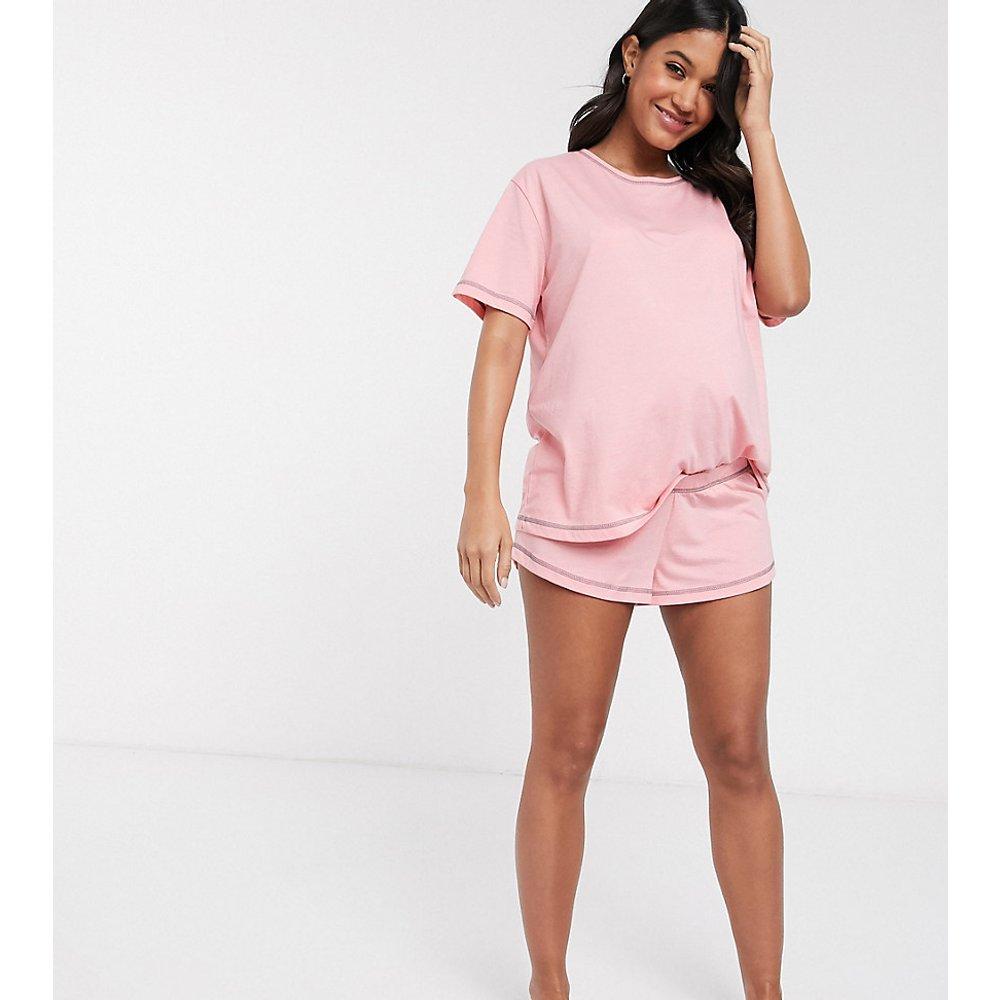 ASOS DESIGN Maternity - Mix & match - Short de pyjama en jersey à coutures surjetées - ASOS Maternity - Modalova