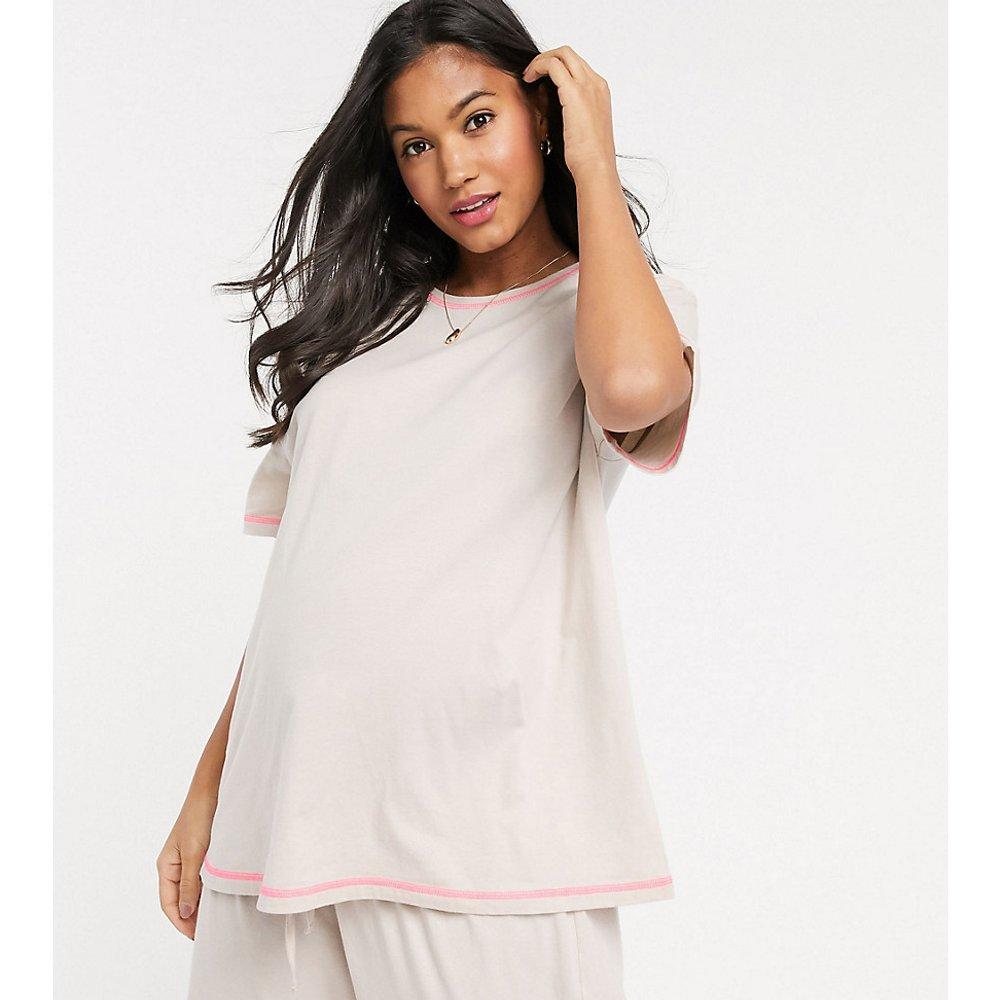 ASOS DESIGN Maternity - Mix & Match - T-shirt en jersey à points de surjet fluo - ASOS Maternity - Modalova