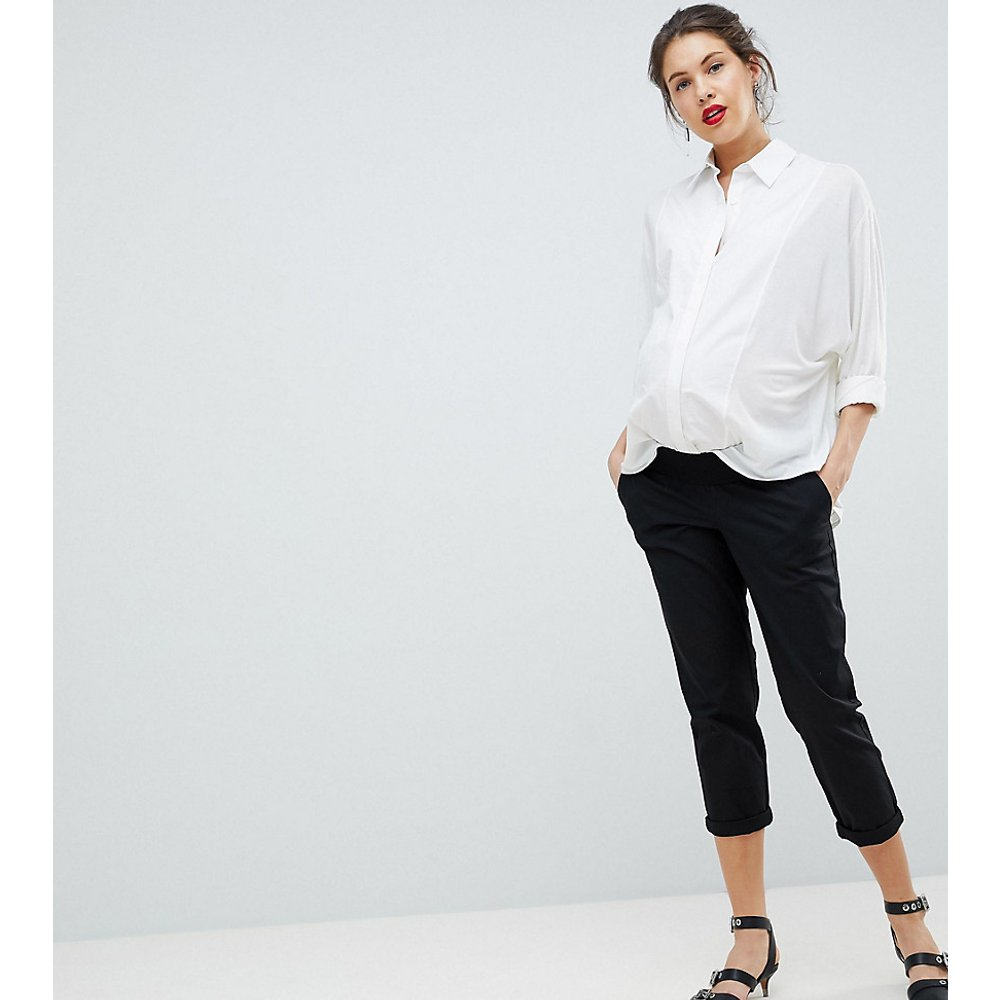 ASOS DESIGN Maternity - Pantalon chino taille basse - ASOS Maternity - Modalova