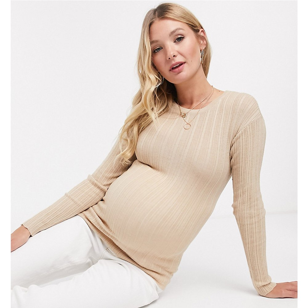 ASOS DESIGN Maternity - Pullcôtelé ras de cou - ASOS Maternity - Modalova