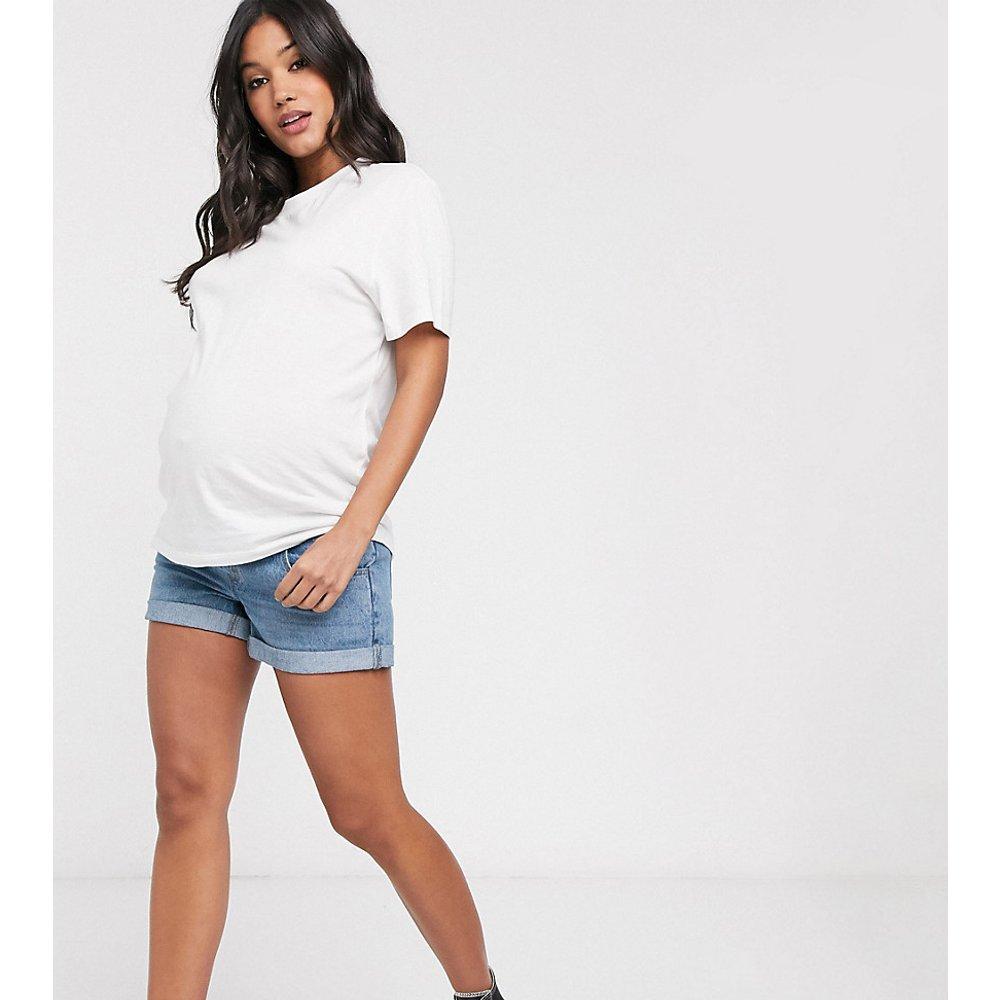 ASOS DESIGN Maternity - Short en jean taille haute style vintage - ASOS Maternity - Modalova