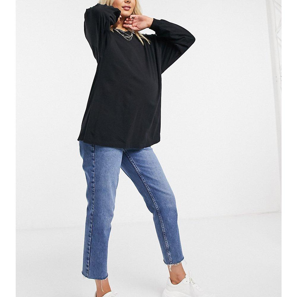 ASOS DESIGN Maternity - T-shirt oversize avec manches longues à bordures ajustées - ASOS Maternity - Modalova
