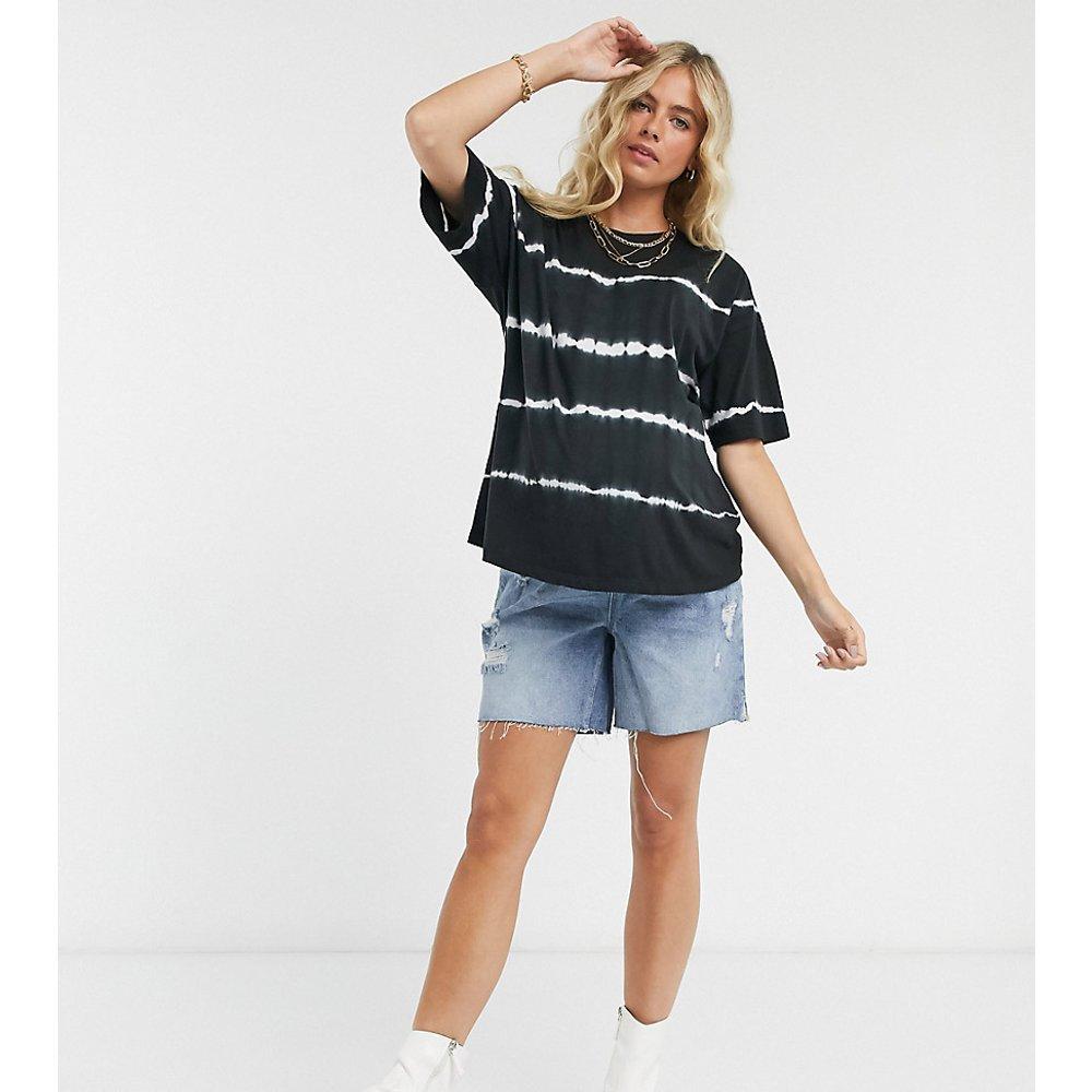 ASOS DESIGN Maternity -T-shirt oversize effet tie-dye rayé - ASOS Maternity - Modalova