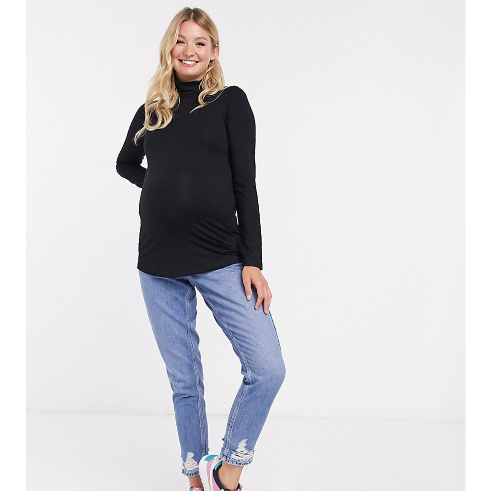 ASOS DESIGN Maternity - Top à manches longues et col roulé - ASOS Maternity - Modalova