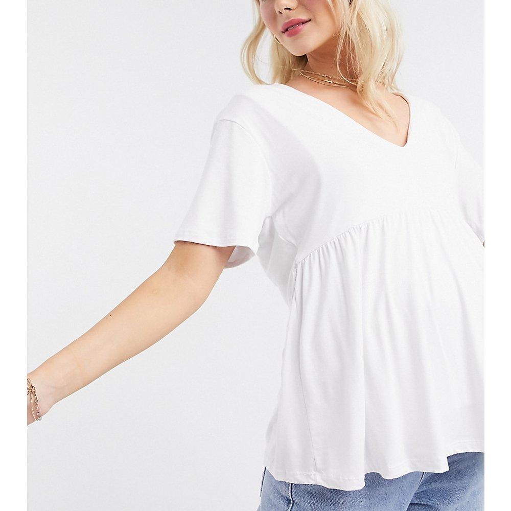 ASOS DESIGN Maternity - Top d'allaitement à smocks et double épaisseur avec col en V - ASOS Maternity - Nursing - Modalova