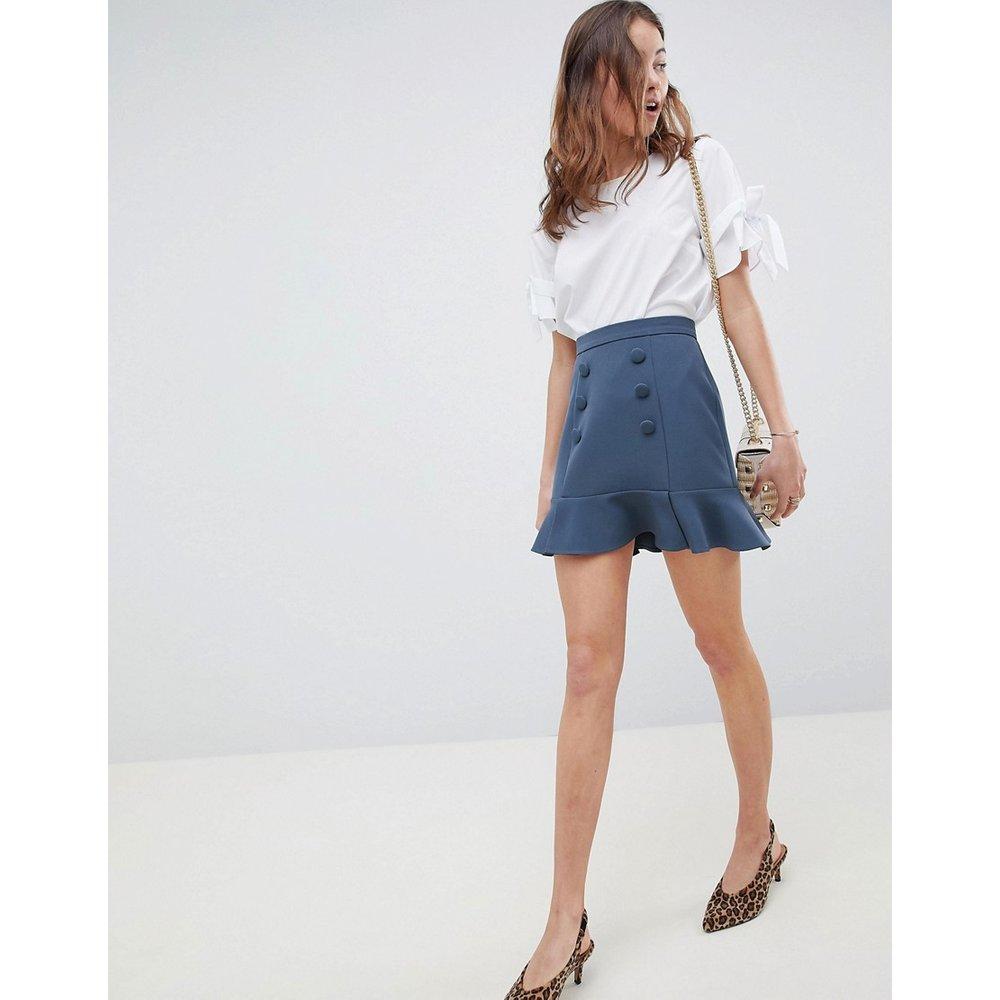 Mini-jupe croisée à basque - ASOS DESIGN - Modalova