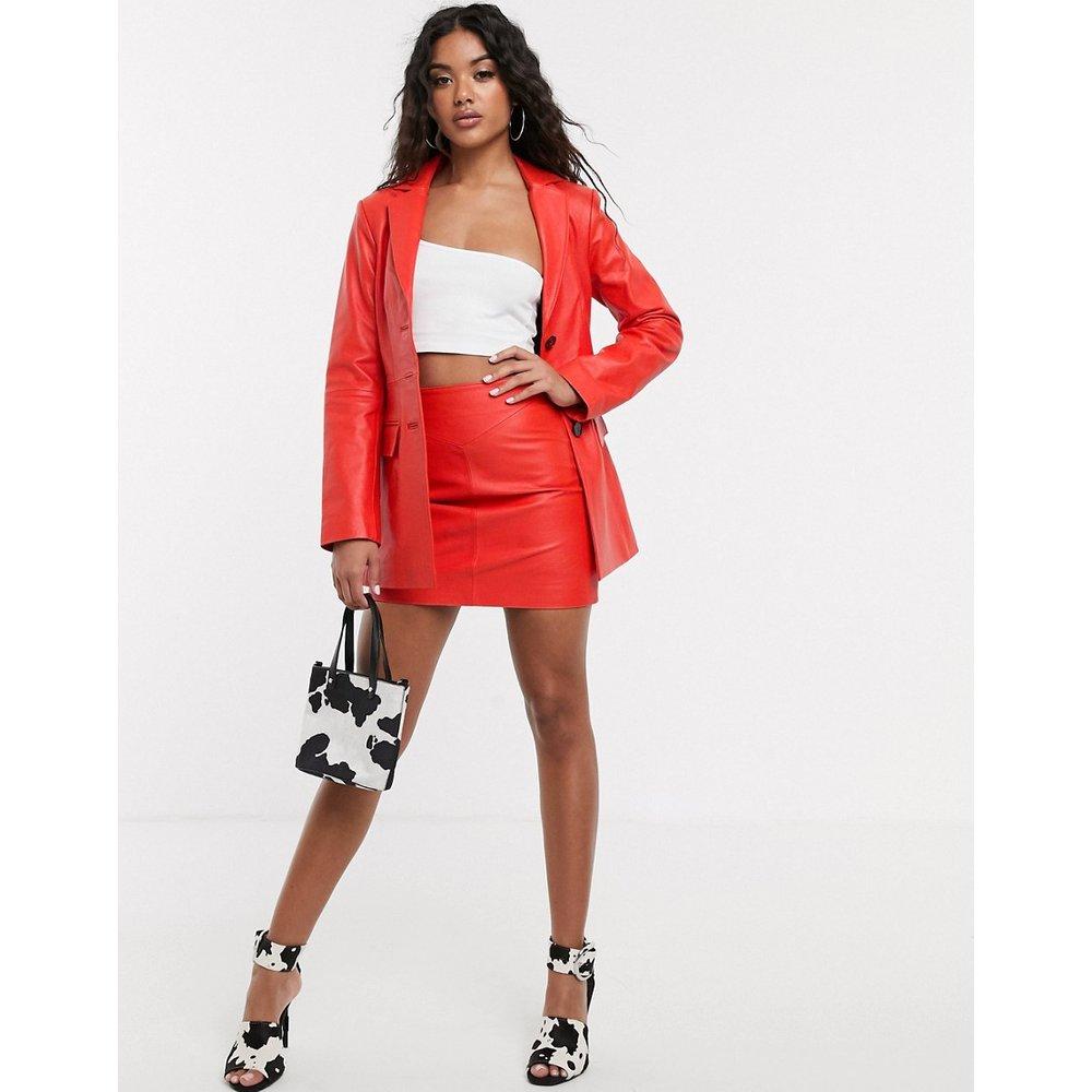 Mini-jupe en cuir premium - ASOS DESIGN - Modalova
