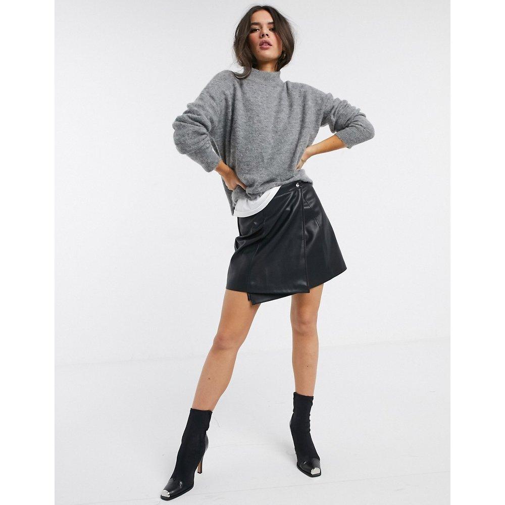 Mini-jupe portefeuille coupe trapèze à boutons-pression - ASOS DESIGN - Modalova