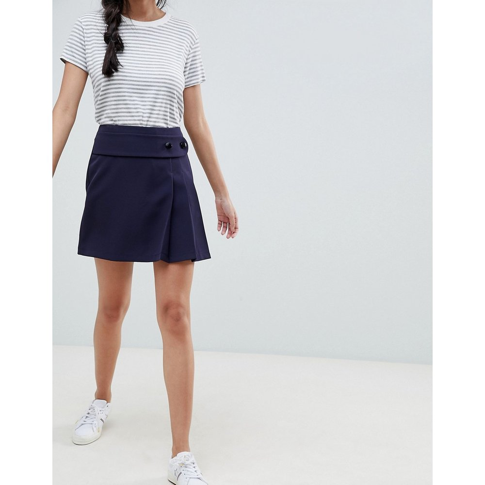 Mini-jupe style kilt avec ceinture et plis - ASOS DESIGN - Modalova
