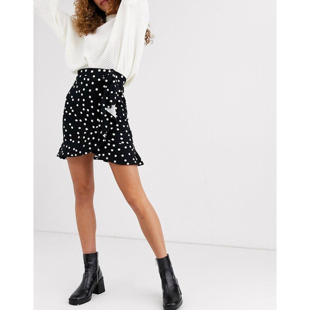 Mini-jupe style portefeuille avec imprimé à pois - ASOS DESIGN - Modalova