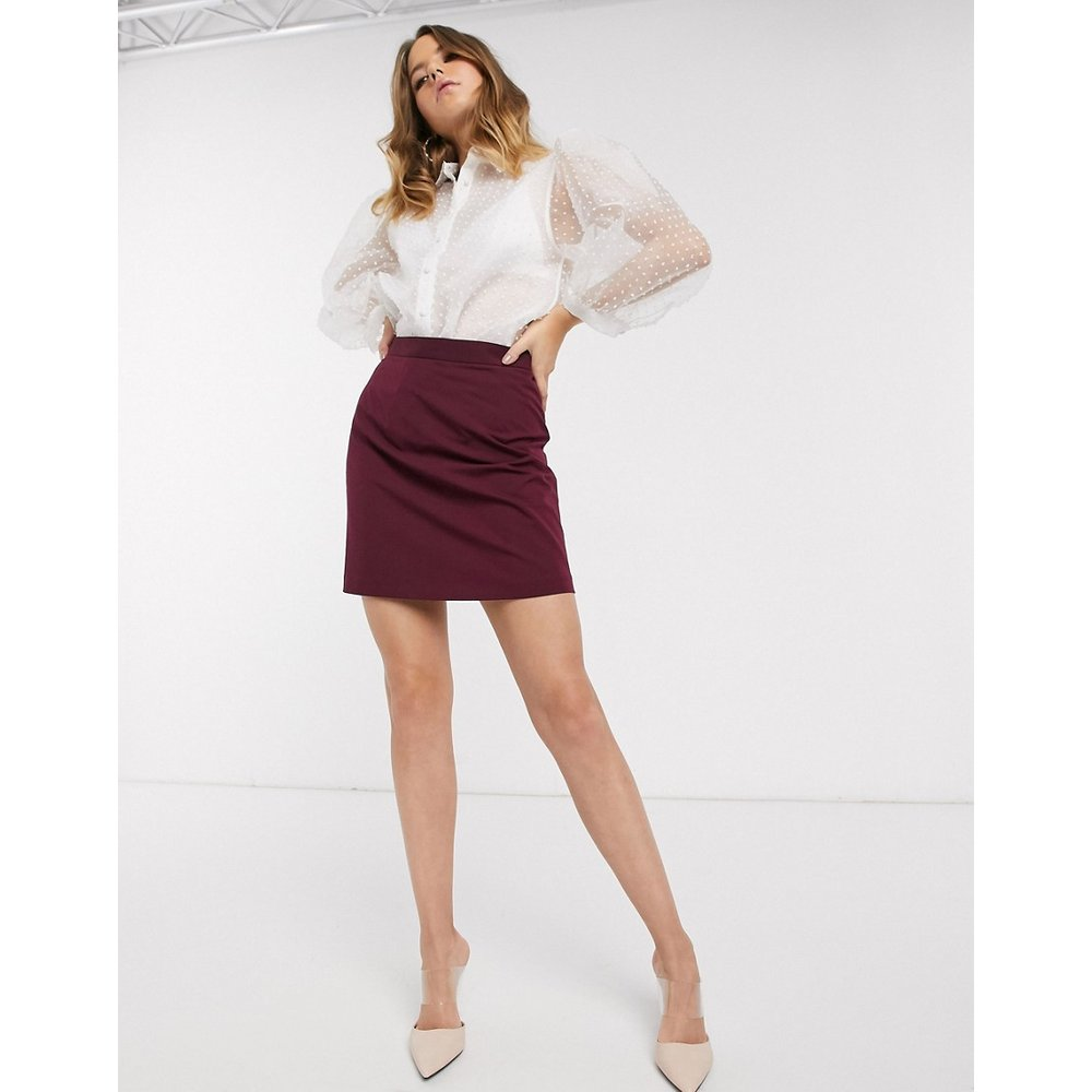 Mini-jupe trapèze ajustée - ASOS DESIGN - Modalova
