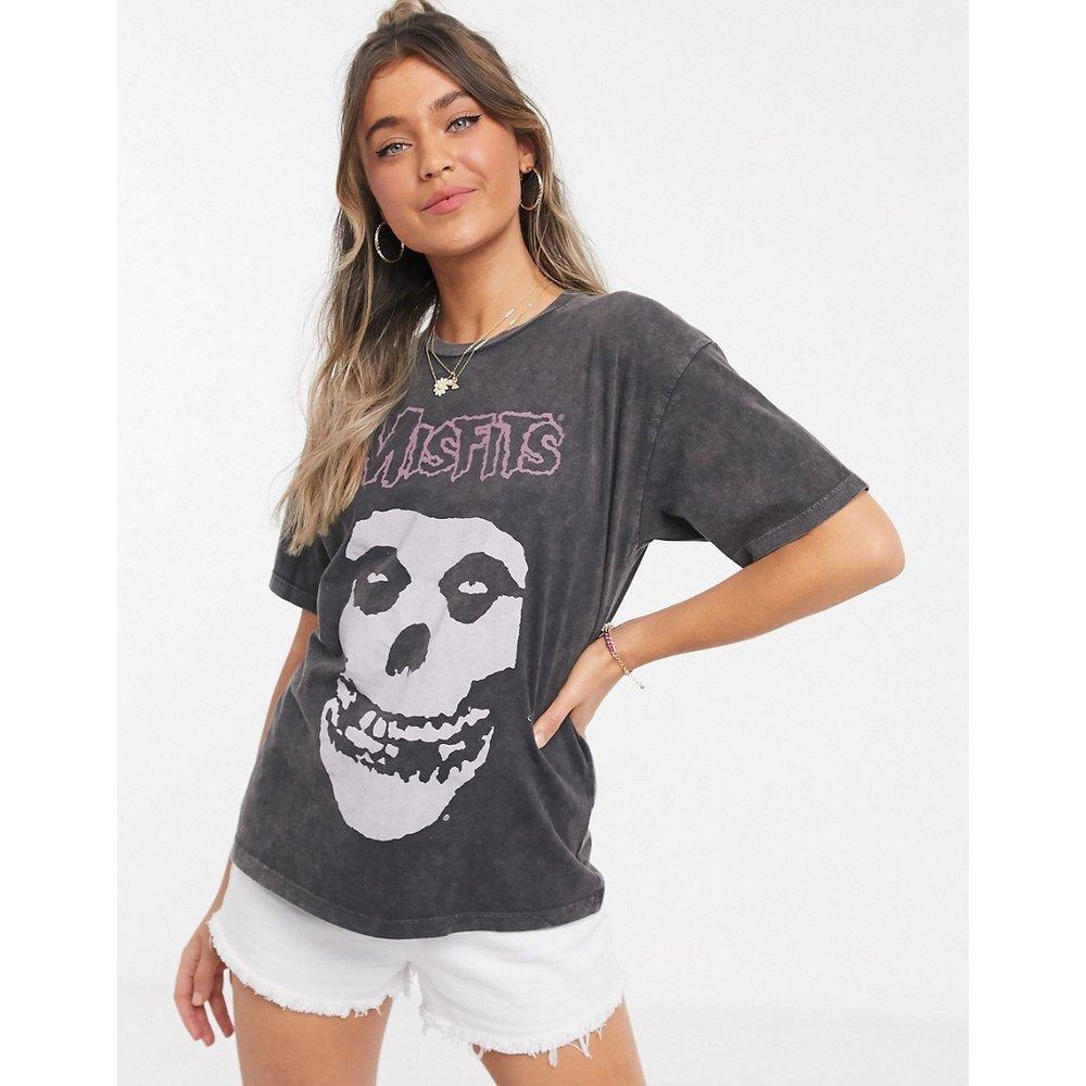 Misfits Licence - T-shirt imprimé - Anthracite délavé - ASOS DESIGN - Modalova