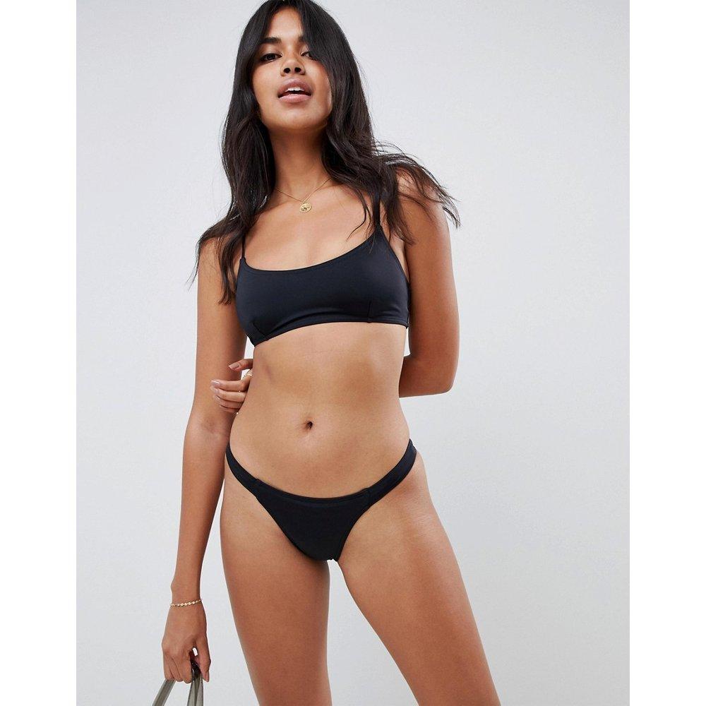 Mix and match - Bas de bikini tanga en tissu recyclé à pattes sur les côté - ASOS DESIGN - Modalova