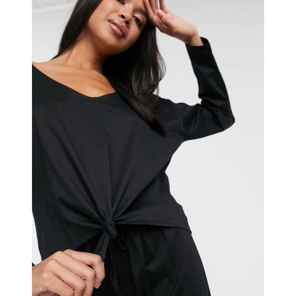 Mix & match - Haut de pyjama en jersey noué sur le devant avec manches longues - ASOS DESIGN - Modalova