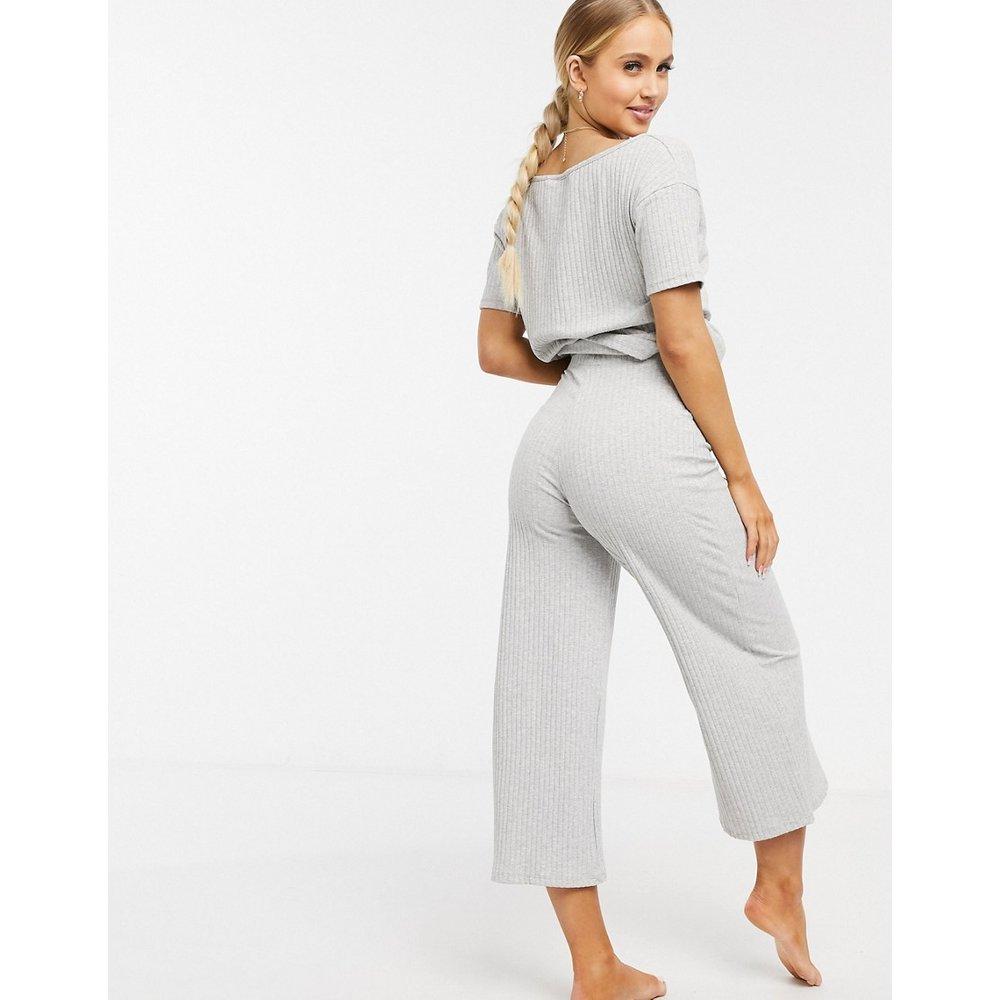 Mix & Match - Jupe-culotte de pyjama en tissu côtelé - ASOS DESIGN - Modalova