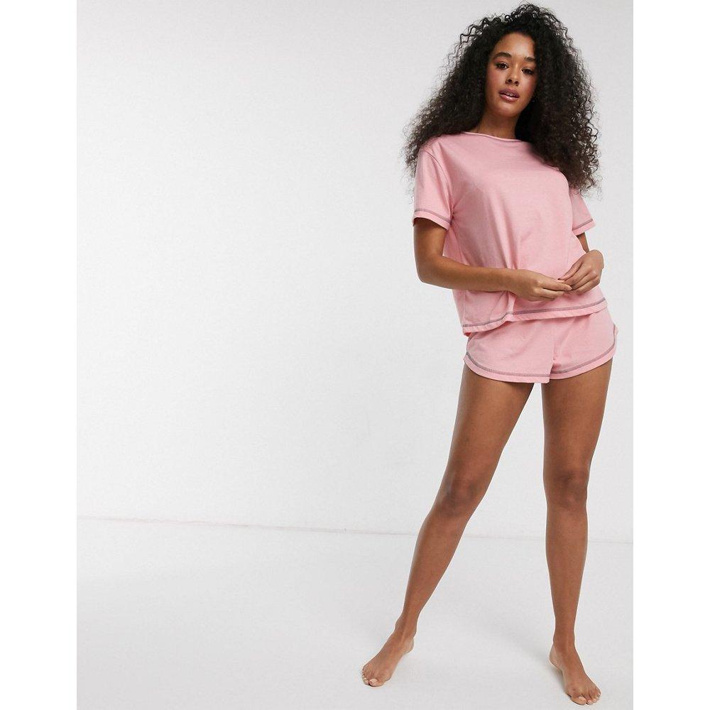 Mix & Match - Short de pyjama en jersey avec surjets - ASOS DESIGN - Modalova