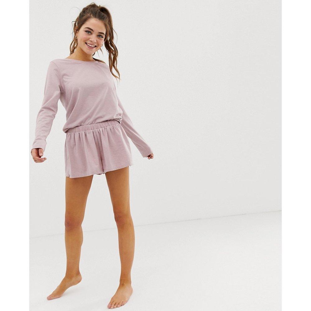 Mix & Match - Short de pyjama en jersey virevoltant chiné - ASOS DESIGN - Modalova