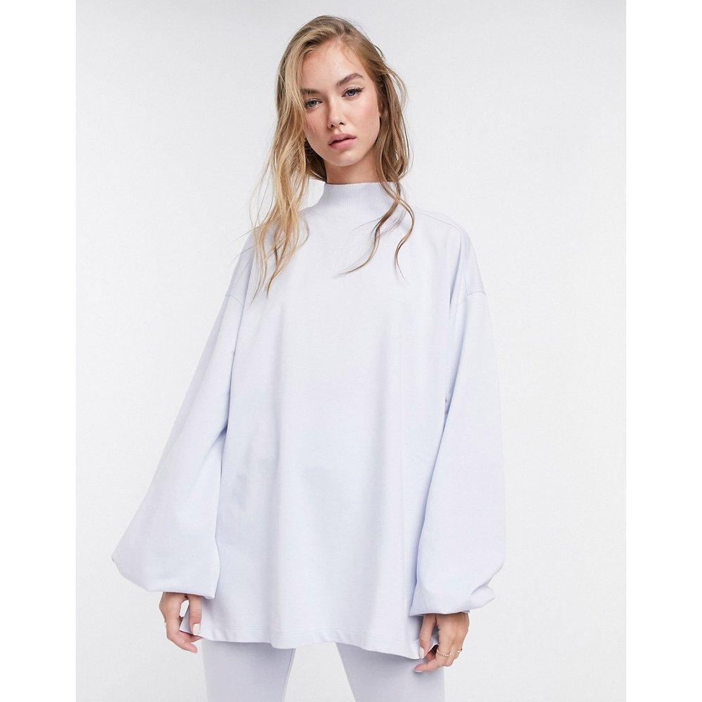 Mix & Match - Sweat-shirt léger oversize col montant et coutures apparentes - cendré - ASOS DESIGN - Modalova