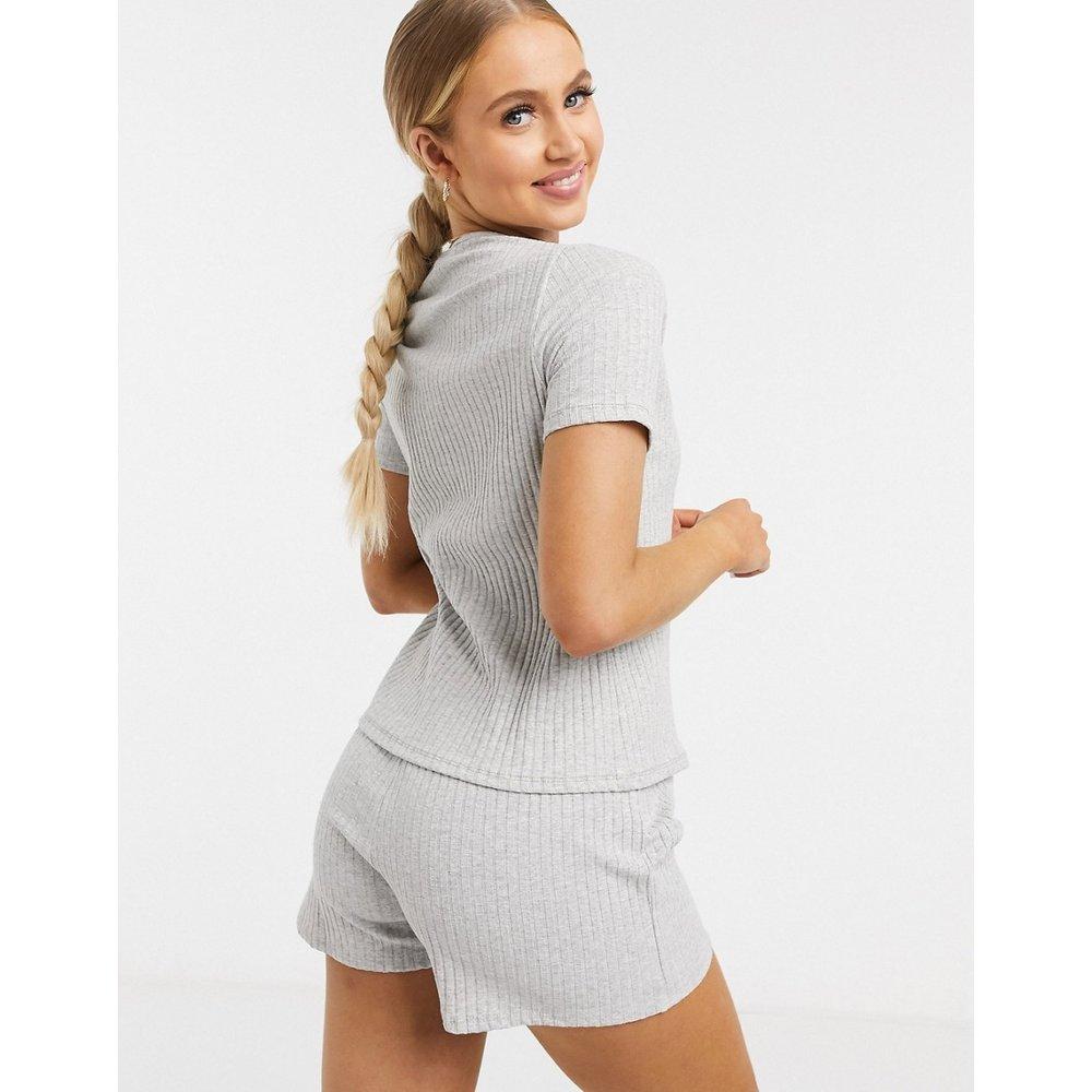 Mix & Match - T-shirt de pyjama en tissu côtelé - ASOS DESIGN - Modalova
