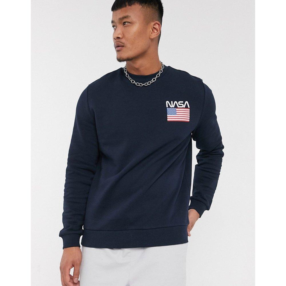 NASA - Sweat-shirt avec logo imprimé - Bleu marine - ASOS DESIGN - Modalova